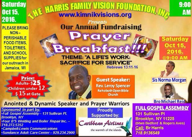 Prayer Breakfast Flyer