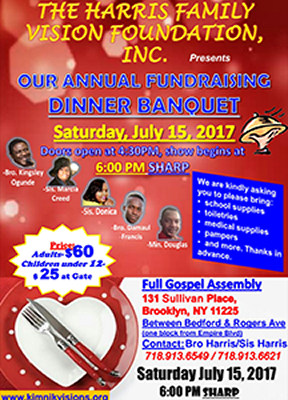 Annual Fundraising Banquet, Flyer
